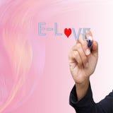 Ręki biznesowy writing kocha Zdjęcie Royalty Free