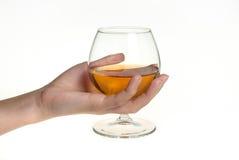 ręki bocal wino Zdjęcia Royalty Free