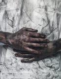 ręki brudna koszula t Obraz Stock