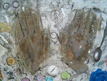 Ręki cement Zdjęcia Royalty Free