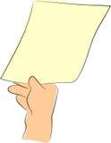 ręki chwyta papier Obrazy Stock