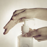 Ręki cleaning fotografia stock