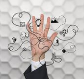 Ręki i biznesu ikona Zdjęcie Royalty Free