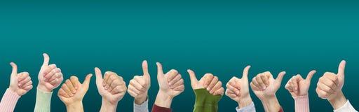 Ręki i gesty na zielonym tle zdjęcia royalty free