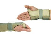 Ręki i nadgarstku poparcie w szczególe Zdjęcie Stock