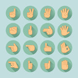 Ręki ikony set Zdjęcie Stock
