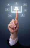 ręki ikony sieci naciskowy socjalny Zdjęcia Stock