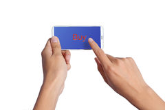 Ręki iphone 5 Zdjęcia Stock