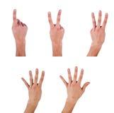 ręki istota ludzka robi liczbom Zdjęcie Stock