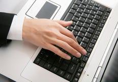 ręki klawiatura Zdjęcie Stock