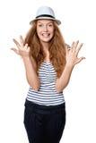 Ręki liczenie - osiem palców Obraz Royalty Free