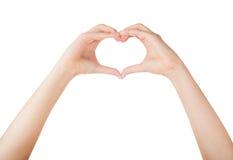 Ręki ludzki serce Fotografia Royalty Free