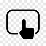 Ręki macania ochraniacza ikona - wektorowy ikonowy projekt Royalty Ilustracja