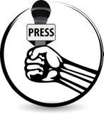 Ręki mic logo Zdjęcia Royalty Free