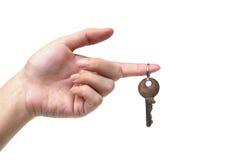 ręki mienia klucz Zdjęcia Royalty Free