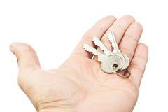 Ręki mienia klucze Zdjęcie Stock