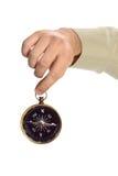 Ręki mienia kompas Obraz Royalty Free