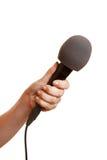 ręki mienia mikrofon Zdjęcia Stock