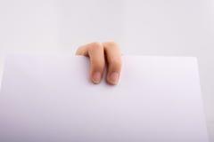 Ręki mienia papier Obraz Stock