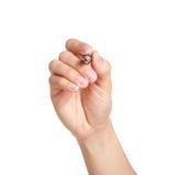 Ręki mienia pióro Zdjęcia Stock