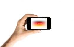 Ręki mienia smartphone Obraz Royalty Free