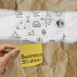 Ręki mienia strategia biznesowa Fotografia Royalty Free