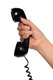 ręki mienia telefonu odbiorcy rocznik Obrazy Stock