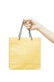 Ręki mienia torba na zakupy fotografia royalty free