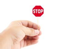 ręki mienia znak Fotografia Stock