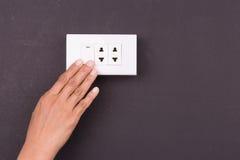 Ręki odciskania elektryczna lekka zmiana Zdjęcia Stock