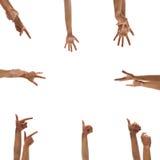 ręki odizolowywali biel Zdjęcia Royalty Free