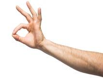 ręki ok znak Zdjęcie Royalty Free