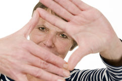 Ręki oler ramowa kobieta zdjęcie royalty free