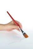 ręki paintbrush Zdjęcie Royalty Free