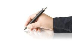 ręki pióra writing Obraz Stock