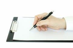ręki pióra writing Obraz Royalty Free
