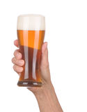 ręki piwny szklany mienie Zdjęcie Stock