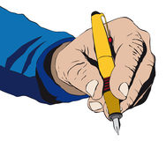 ręki podpisywanie Zdjęcie Stock