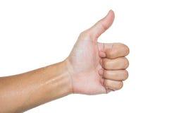 Ręki przedstawienia kciuk up obraz stock