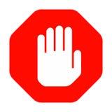 Ręki przerwy znak Obraz Royalty Free