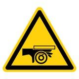 R?ki przyduszenia n?kania punktu symbolu Rolkowy znak Odizolowywa Na Bia?ym tle, Wektorowa ilustracja royalty ilustracja