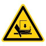 R?ki przyduszenia si?y symbolu znak Z G?ry Odizolowywa Na Bia?ym tle, Wektorowa ilustracja ilustracji