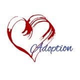 Ręki serca rysunek Adopcja Obraz Stock