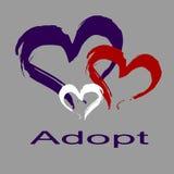 Ręki serca rysunek Adopcja Fotografia Stock