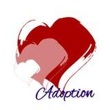 Ręki serca rysunek Adopcja Zdjęcia Stock