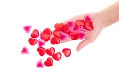 ręki serce Zdjęcia Stock