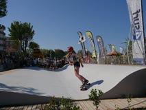 ręki Surfkate festiwal 2016 - kobieta konkurs Zdjęcia Stock