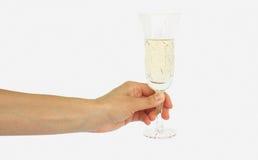ręki szklany wino Zdjęcia Stock