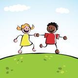 ręki target1690_1_ dzieciaki dwa Obrazy Royalty Free