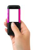 ręki telefon komórkowy Obrazy Royalty Free
